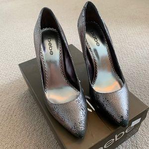Metallic Bebe Heels